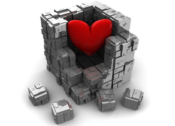 """Öffne dein Herz JETZT NICHT! Was dein Herz ist: ein Muskel, ein Organ, ein Energiezentrum. Was dein Herz NICHT ist: ein Fenster, ein Computerprogramm, eine Walnuss. Deshalb öffnet es sich auch nicht auf Befehl. Die wahre Geschichte einer widerspenstigen Weisheit. Nichts, aber auch gar nichts regte sich unter meinem Brustbein. FIsh pose. Camel pose. Kobra. Open your heart! Let your love shine! Wie oft habe ich das im Yogaunterricht gehört! Und wie oft habe ich mich wie ein emotionsloser Eisblock gefühlt, nicht nur, weil sich mein Herz beim Yoga nicht öffnen wollte, sondern auch weil ich beim Liebesfilm im Kino als einzige nicht weinen musste. Und weil mir der Anblick junger Katzen nicht dieselben Entzückensschreie entlockte wie allen anderen. Nicht, dass mein Herz sich nicht bemerkbar gemacht hätte - im Gegenteil. Es verursachte Schmerzen in meiner Brustwirbelsäule. Es drückte von innen gegen das Brustbein. Es gab mir immer wieder zu verstehen, dass es keine Luft bekam. Es war lebendig, aber es war eingesperrt. Tief in seinem Inneren war es rot, flüssig und heiß wie Lava. Aber nichts davon drang nach außen. Wieder muss ich die Frau mit den Zauberhänden zitieren. Der Herzbeutel, erklärte meine Cranio Sacral Therapeutin, habe sich wie eine schroffe, harte Mauer schützend um mein Herz gelegt, vermutlich nach einer schmerzhaften Erfahrung. Über das Fasziensystem sei er mit der Brustwirbelsäule verbunden, daher meine immer wiederkehrenden Beschwerden. Ich begann heart opening yoga zu üben, wölbte im Fisch und im Kamel mein Brustbein nach oben und stellte mir vor, wie meine Schulterblätter mein Herz dem Himmel entgegenhoben. Nicht mit mir, sagte mein Herz. Ich ging zur Shiatsu-Praktikerin. Die junge Frau - ebenfalls mit Zauberhänden ausgestattet - tat ihr Bestes. Sie lockte, verwöhnte, mobilisierte. Kommt nicht in Frage, sagte mein Herz. Ich legte, auf dem Rücken liegend, beide Hände auf die Mitte meiner Brust. """"Ich liebe mich"""", wiederholte ich mit jedem Einatmen, und mit """