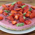 Erdbeertorte vegan glutenfrei rawlicious clean eating