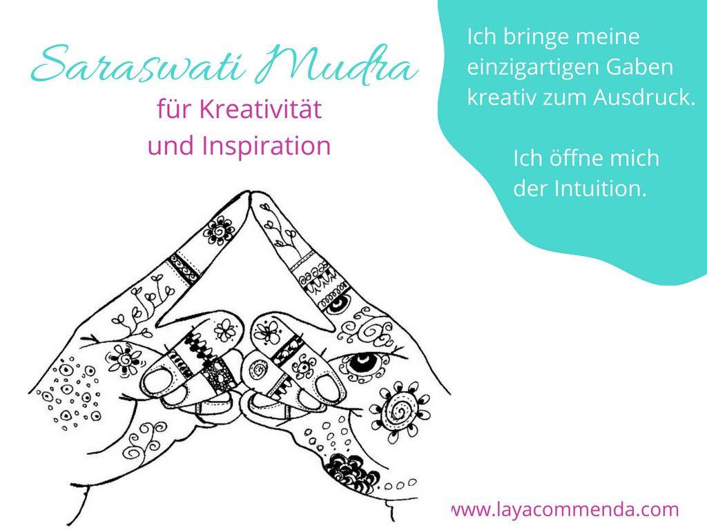 Saraswati Mudra für Kreativität und Inspiration