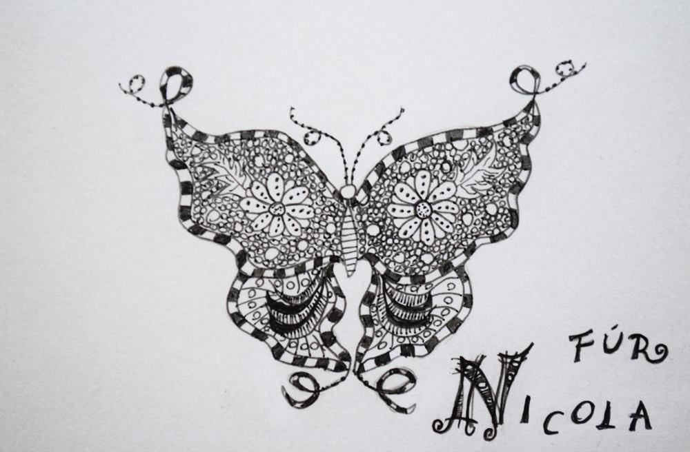 Schmetterling Zentangle