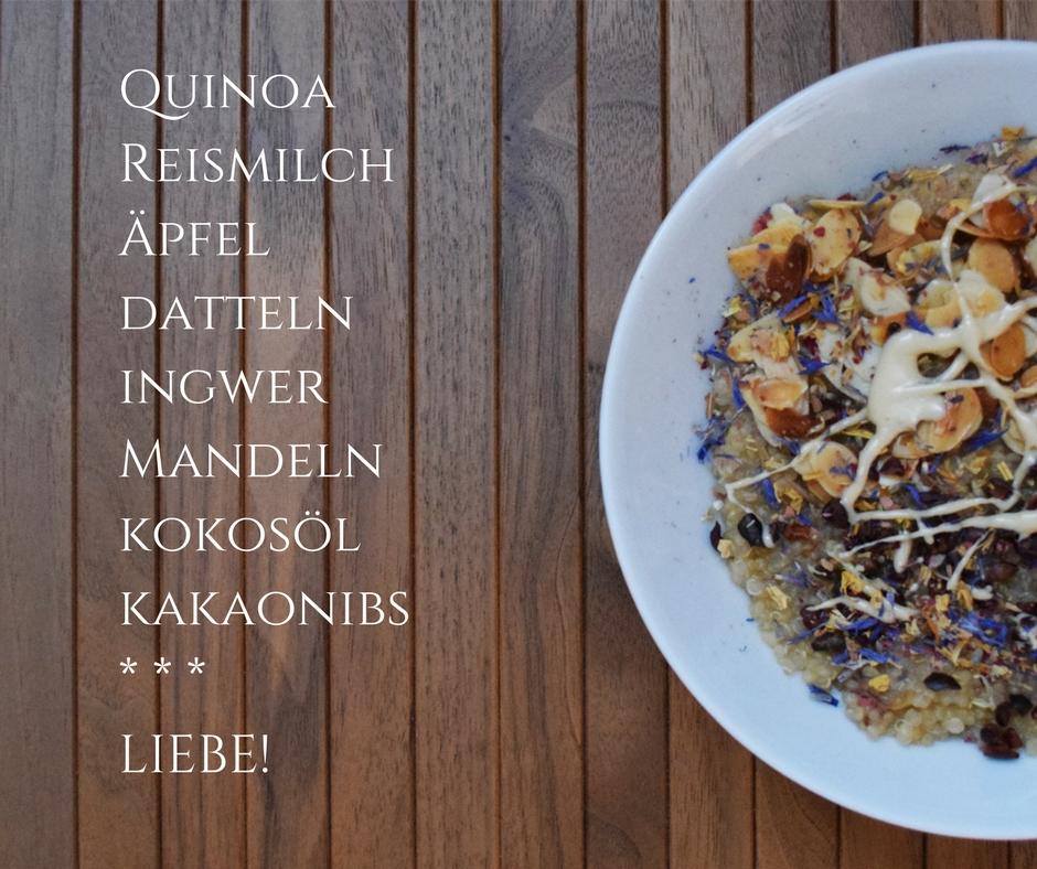 Auf Engelsflügeln durch den Tag: Quinoa--Porridge