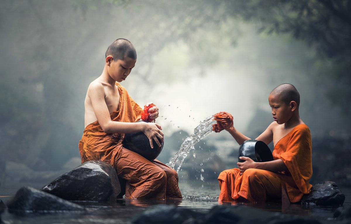 Auch die einfachsten Tätigkeiten können zu einem heiligen Ritual werden.
