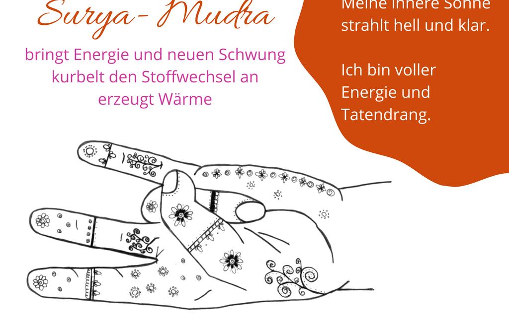 Surya Mudra: Wärme, Licht und neue Energie
