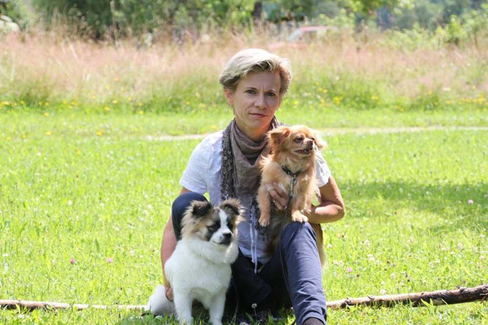 Sonja Miko mit Speedy und Norman