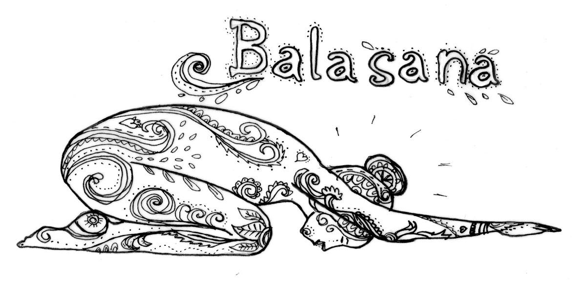 Sicherheit und Geborgenheit in Balasana