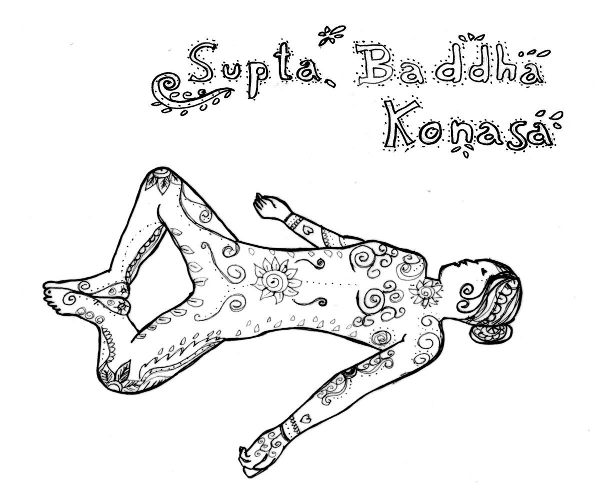 Loslassen in Supta Baddha Konasana